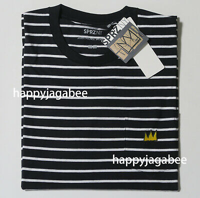 fdced746829 UNIQLO Men UT 2019 SPRZ JEAN-MICHEL BASQUIAT Graphic Tee BLK Stripe NEW  418120