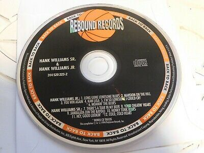 Their Greatest Hits by Hank Williams/Hank Williams, Jr. (CD, Disc Only 41-101