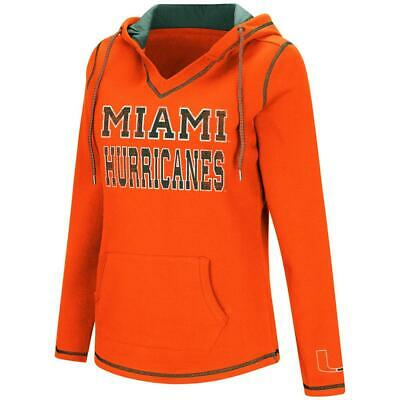 725f4a70633d7 COLOSSEUM WOMENS MIAMI Hurricanes Cross Back Hooded Tank Top Heather ...