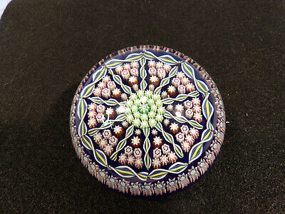 Paperweight Perthshire Glass Millefiori & Twisted Cane Design