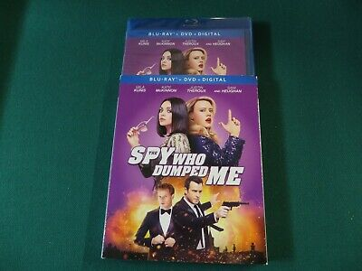 The Spy Who Dumped Me (Blu-ray + DVD + Digital, 2018) +Slipcover NEW