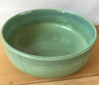 Mid Century Modern VERNONWARE California Heritage Green Drip Soup Cereal Bowl