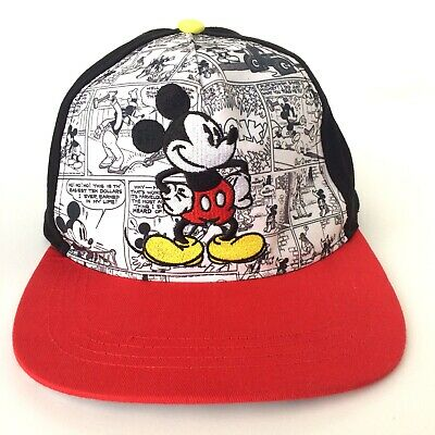 84051f410fe Gently Used Disney Mickey Mouse Comics Adult Baseball Black Cap Hat Snap   6013