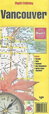 Map of Vancouver, British Columbia, Canada, by MapArt Publishing
