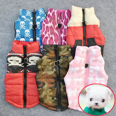 Pet Warm Padded Coat Jacket Vest Harness Apparel Clothes for Dog Cat Puppy HOT