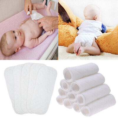 Lots Baby Newborn Infant Cotton Cloth Diapers Washable Diapering Reusable Nappy
