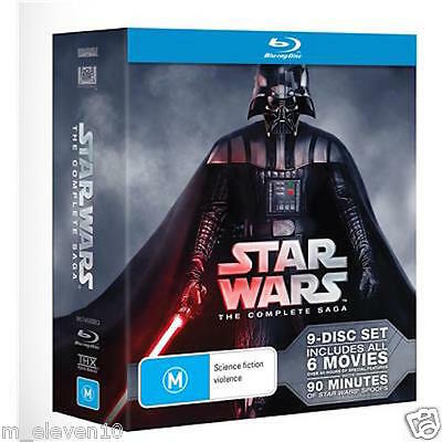 STAR WARS The Complete SAGA : 6 Movies :  PREQUEL - TRILOGY : NEW Blu-Ray