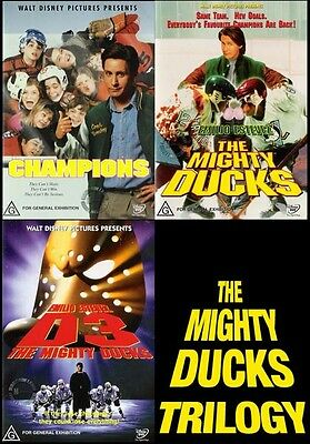 The Mighty Ducks TRILOGY 1 2 3: Champions / D2 / D3 : NEW DVD