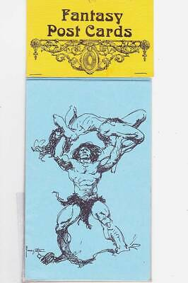 Eight 1974 FANTASY POST CARDS - Frazetta, Jeff Jones, Norman Lindsay and more.