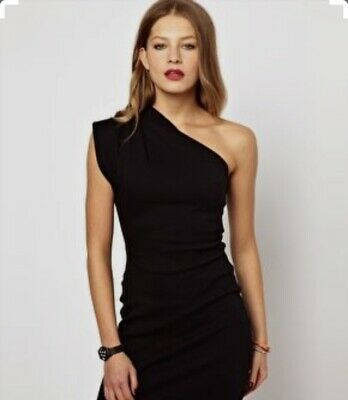 American Apparel, One Shoulder , Bodycon, Black, Extra S/S, Cocktail Dress
