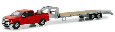 Greenlight 1/64 2017 Ford F-150 w/ Gooseneck Trailer HOBBY EXCLUSIVE SET 32151