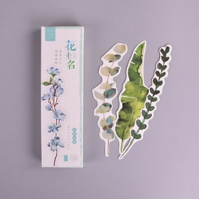 Cool 30 Pcs Plants Flower Paper Bookmark Page Holder Marker Message Card School