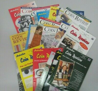 Australian Coin Review Magazines x 21 1997, 1999 - 2001 Coin & Banknote Books