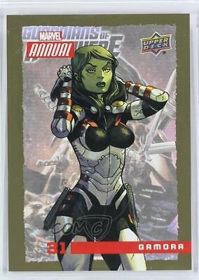2016 Upper Deck Marvel Annual Gold #31 Gamora Non-Sports Card 4et