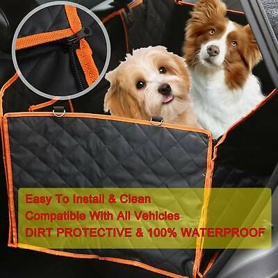 UK Pet Car Seat Cover Dog Safety Mat Cushion Rear Back Seat Protector Hammock