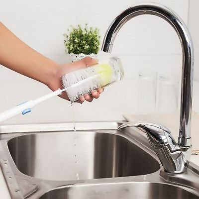 Kitchen Cleaner Long Foam Brush Feeding Bottle Glass Washing Thermos Cleaning