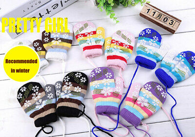 Cool AU stock Cool new Cool new Winter Kids Children Warm Lanyard Gloves Whole C