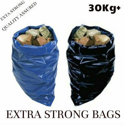 30kg+ Extra Strong 500 Gauge Heavy Duty Rubble Sacks High Strength Bags Builders