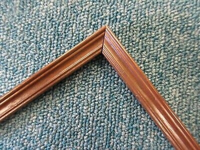 10 Lengths (10m) - Small 13mm Wooden Walnut Effect Picture Frame Moulding