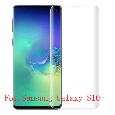 3D Full Coverage Tempered Glass Screen Film Protect For Samsung Galaxy S10+