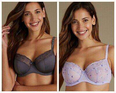 0fa6d74eb788d BNWT M S 2 Pack Lace Non Padded Full Cup Balcony Bra 34D 36A 38A 38B ...