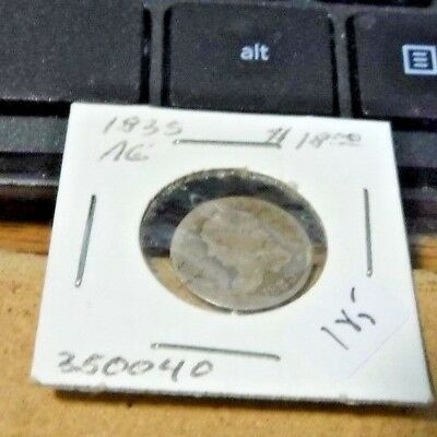 1835 H10C Small Date Small 5C Capped Bust Half Dime-Engraver William Kneass.Circ