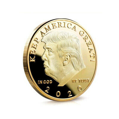 Donald J Trump 2020 Keep America Great Commander In Chief Gold Challenge Coin