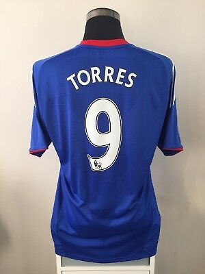 TORRES #9 Chelsea Home Football Shirt Jersey 2010/11 (L)