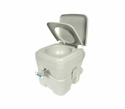 Portable Camping Toilet for Outdoor Indoor Pedestal Pan Rv Caravan Parts 2.6 GAL