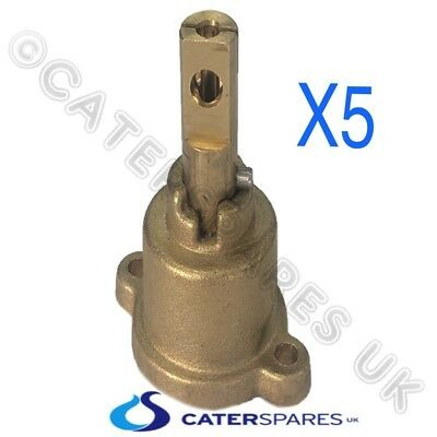 Chinese Cooker Wok Brass Pel Gas Tap Valve Repalcment Head / Shaft Spindle X 5