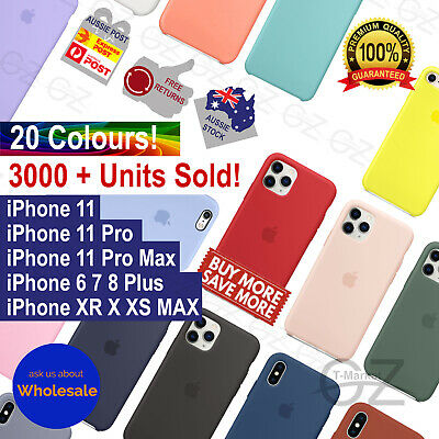 Genuine Silicone Case Cover For iPhone 11 Pro X XS MAX XR 7 8 6 Plus Shockproof