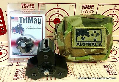 Alangator TriMag BX-1 Magazine Coupler & Pouch Ruger American 10/22 Free Target.