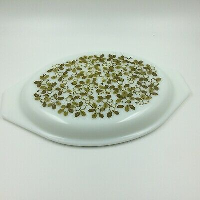 Replacement Lid Only Vintage Pyrex Verde Olive Green Oval Casserole 945C 2.5 Qt