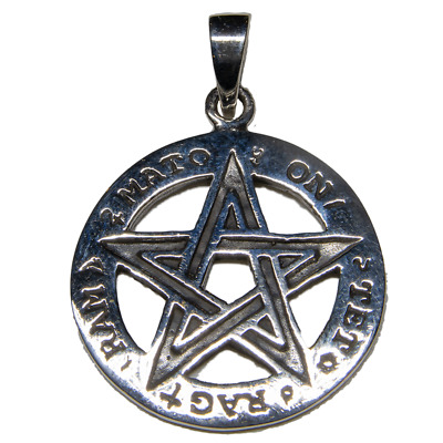 Pentagram Pendant 925 silver pagan celtic wicca wiccan witch amulet feeanddave