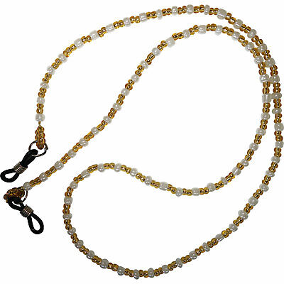 Glasses Chain Spectacle Sunglasses Holder Sports Gym Neck Strap Cord Gold White