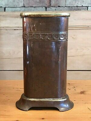 Vintage Poker/Fireplace Stand, Brass/Copper/Cast Metal with Lustre