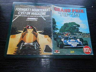 Album  Automobile   Editions Age 78/79 Grand Prix Suede Indianapolis Monaco Etc