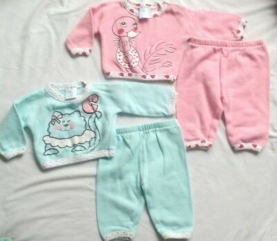 80507f94efa Vintage Small Stars 80 s 90 s Baby Girl Twins Outfits Sweat Suits Sz ...