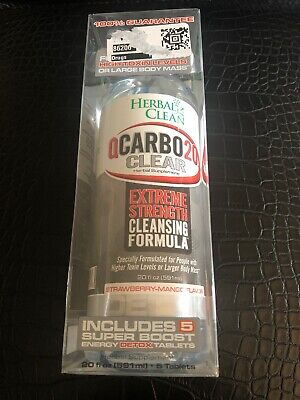 HERBAL CLEAN QCARBO20, Extreme Strength, Clear, Strawberry