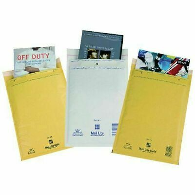 Bubble Padded Mail Lite Envelopes Mailer Bags White or Gold A000 B00 D1 F3 E2 J6