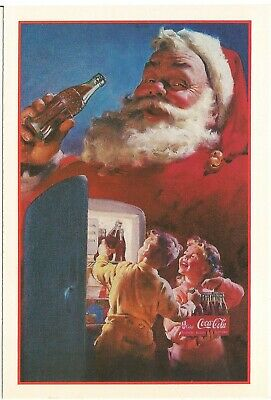 Santa Claus Coca-Cola Advertising Detachable Postcard w/ Kodak Coupons 1991