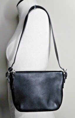 e9eda8aa02d1 COACH Hamptons Black leather small hobo shoulder bag purse EUC