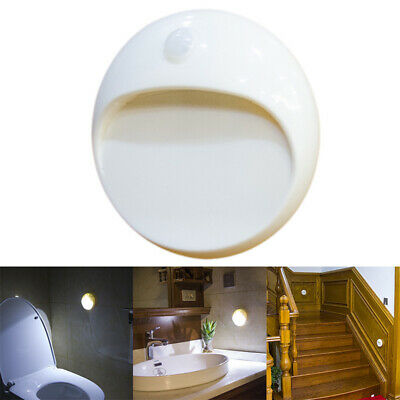 LED Battery Power PIR Motion Sensor Light -Indoor Wall Stair Shed Bathroom Lamps