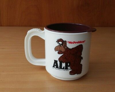 ALF (TV Show) Rare Alf White Plastic Sip Cup Mini Max USA 1987 Alien Productions