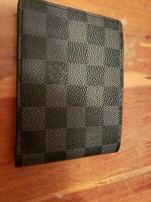 dbbc26d2347e MENS LOUIS VUITTON Authentic Multiple Damier Graphite Wallet ...