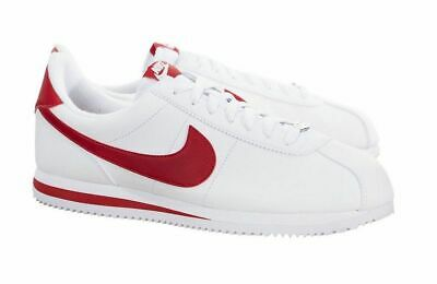 new concept 571e3 8e762 NEW NIKE CORTEZ 72 BASIC LEATHER 819719-101 WHITE RED CLASSIC RUNNING Mens  10.5