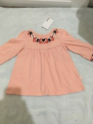 BNWT Baby Girls Long Sleeve Pink Top Size 00