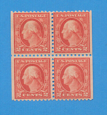 USA - Scott 425c - block of four from booklet pane - three VFMNH, one is hinged