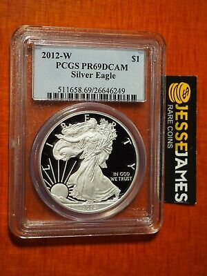 2012 W Proof Silver Eagle Pcgs Pr69 Dcam Traditional Blue Label