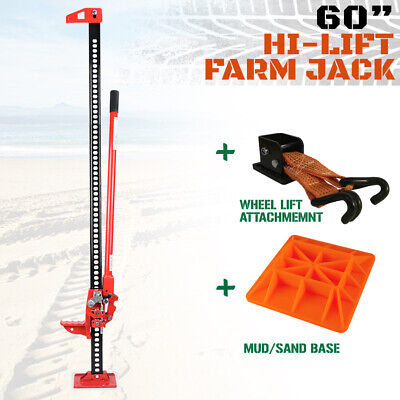 "Hi Lift High Farm Jack 60"" - KIT - With Base &  Jack Mate 4WD Heavy Duty"